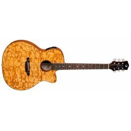 Luna Guitars Gypsy Quilt Ash Gloss Natural