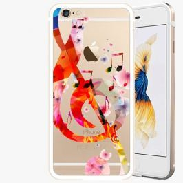 Kryt na mobil iSaprio Alu Gold pro iPhone 6 Plus / 6S Plus - Music 01